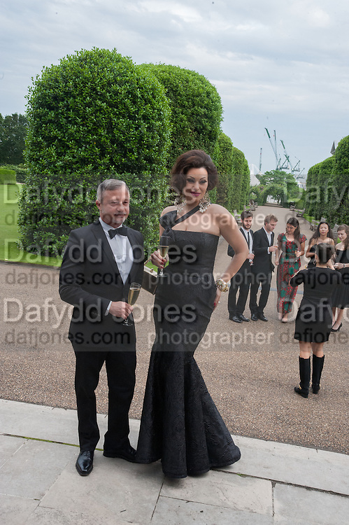 JACQUES AZAGURY; IMMODESTY BLAISE, English National Ballet  evening of art, ballet and live performance inspired by Swan Lake, The Orangery, Kensington Palace London.  27 June 2012