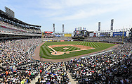 CHICAGO - APRIL 24:  A general view of U.S. Cellular FIeld as a crowd of 26,058 looks on during the game between the Chicago White Sox and Texas Rangers on April 24, 2016 at U.S. Cellular Field in Chicago, Illinois.  The White Sox defeated the Rangers 4-1.  (Photo by Ron Vesely/MLB Photos via Getty Images)