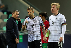 LJUBLJANA, SLOVENIA - JUNE 06: Stefan Kuntz, head coach of Germany, Arne Maier of Germany during the 2021 UEFA European Under-21 Championship Final match between Germany and Portugal at Stadion Stozice on June 06, 2021 in Ljubljana, Slovenia. Photo by Grega Valancic / Sportida