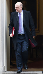 Downing Street, London, January 31 2017. Transport Secretary Chris Grayling leaves 10 Downing Street following the weekly meeting of the UK cabinet.