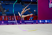 Jovenin Axelle during the qualification of the clubs at the Pesaro World Cup 2018.<br />