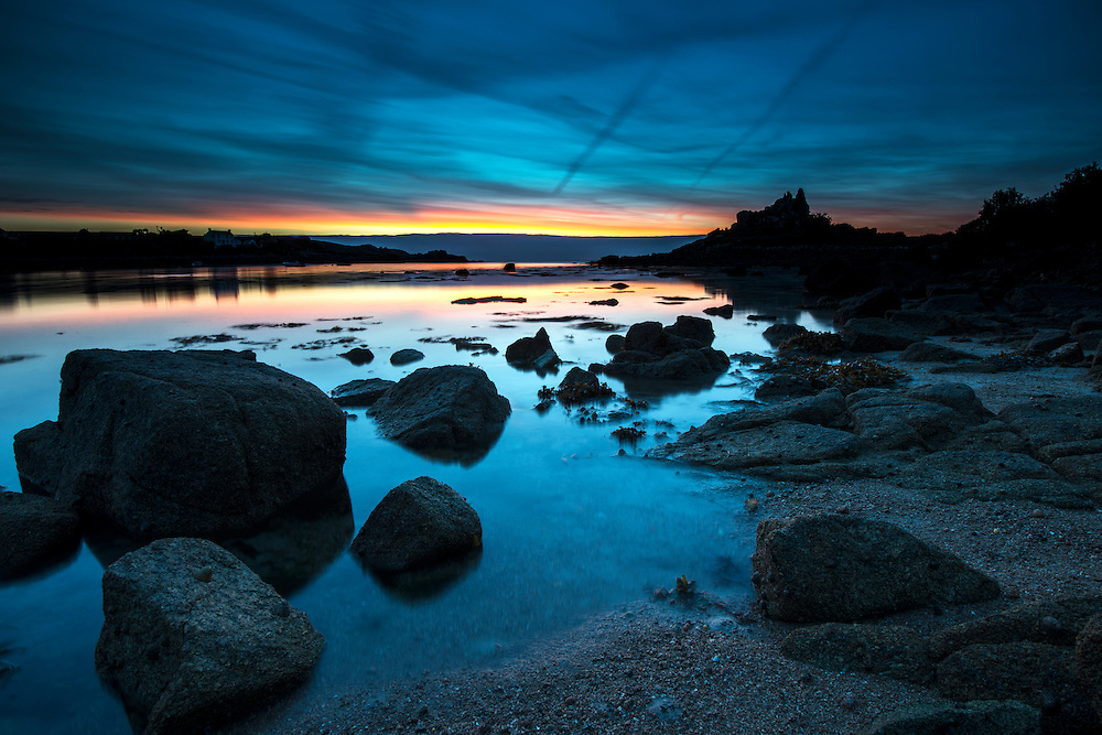 Dawn over Old Town Bay, St Mary's, Isles of Scilly