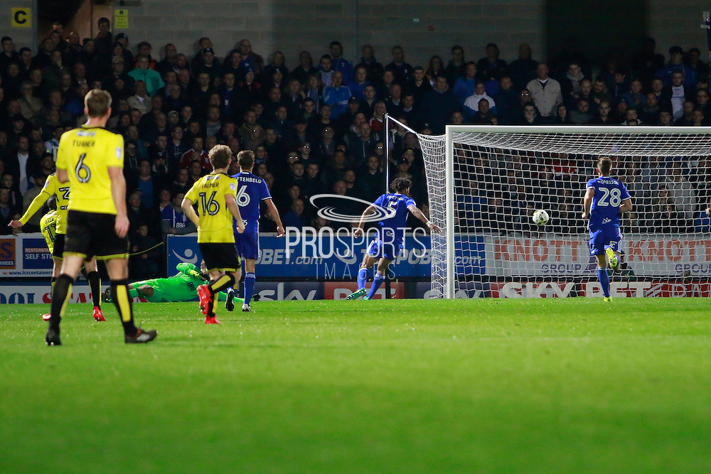 Burton's Lloyd Dyer (11) scores for Burton and celebrates after making the score 1-0 to Burton Albion during the EFL Sky Bet Championship match between Burton Albion and Birmingham City at the Pirelli Stadium, Burton upon Trent, England on 21 October 2016. Photo by Richard Holmes.