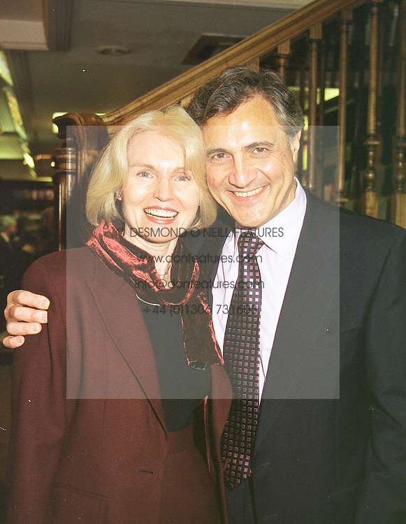 MR & MRS JOHN SUCHET, he is the newsreader and brother of actor David Suchet, at a party in London on 28th April 1999.MRN 44