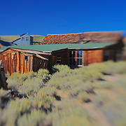 Collapsing Shack Wide View - Bodie, CA - Lensbaby