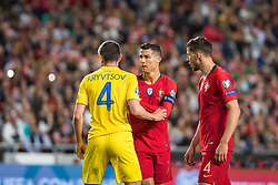 March 22, 2019 - Lisbon, Portugal - Cristiano Ronaldo of Portugal in action during the Qualifiers - Group B to Euro 2020 football match between Portugal vs Ukraine. (Credit Image: © Henrique Casinhas/SOPA Images via ZUMA Wire)