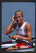 Banyoles, SPAIN, GBR W8+, Kareen MARWICK, competing in the 1992 Olympic Regatta, Lake Banyoles, Barcelona, SPAIN. 92 Gold Medalist.   [Mandatory Credit: Peter Spurrier: Intersport Images]