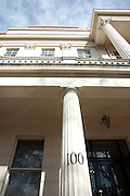 Immaculate columns and pillars frontage of the exclusive classically-designed Victorian property at 100 Eaton Square