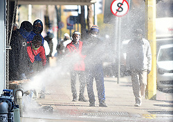 South Africa - Pretoria - 23 July 2020 - Tshwane municipal workers intensified their protest over benchmarking payments when they went on the rampage, burning tyres and destroying fire hydrants in the Pretoria CBD.<br /> <br /> Picture: Thobile Mathonsi/African News Agency(ANA)