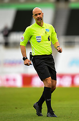 LIVERPOOL, ENGLAND - Sunday, July 26, 2020: Referee Anthony Taylor during the final match of the FA Premier League season between Newcastle United FC and Liverpool FC at St. James' Park. The game was played behind closed doors due to the UK government's social distancing laws during the Coronavirus COVID-19 Pandemic. Liverpool won 3-1 and finished the season as Champions on 99 points. (Pic by Propaganda)