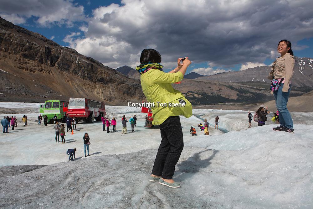 glacier walk jasper national park, canada