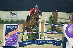 Schwizer Pius, (SUI), Toulago<br /> Longines FEI World Cup™ Jumping Final III round 1<br /> Las Vegas 2015<br />  © Hippo Foto - Dirk Caremans<br /> 19/04/15