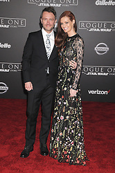 December 10, 2016 - Los Angeles, California, United States - December 10th 2016 - Los Angeles California USA - Actor CHRIS HARDWICK,  LYDIA HEARST  at the World Premiere for ''Rogue One Star Wars'' held at the Pantages Theater, Hollywood, Los Angeles  CA (Credit Image: © Paul Fenton via ZUMA Wire)
