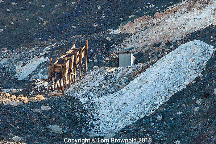 Talc mine talings and mill Saragtoga Springs in the Ibex Hills