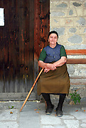 Bulgaria Bansko Local woman in traditional dress