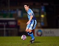 Matt Bloomfield of Wycombe WanderersWycombe Wanderers Vs Rotherham  United at Adams Park High Wycombe  Football League Div 2<br /> 23/02/2009. Credit Colorsport  / Kieran Galvin