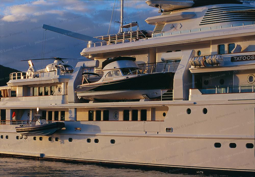 Tenders on Paul Allen's superyacht Tatoosh.