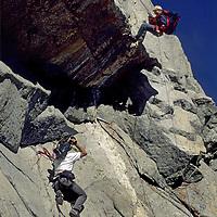 CINEMATOGRAPHY. Mike Graber films Ben Wiltsie rock climbing in the Sierra Nevada (CA). John Muir Wilderness. (MR)