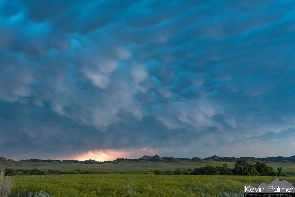 After making it through the core mammatus clouds once again filled the sky on the west side of the storm. Lightning lit up the horizon as the sky got darker.