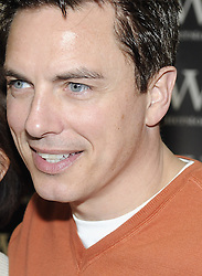 © Licensed to London News Pictures. 04/02/2012. John Barrowman signing his new book, 'Hollow earth', at Waterstones book shop in the  Bluewater shopping complex in Kent Today (04.02.2012). The book is co-authored by his sister, Carole E. Barrowman, a journalist and professor of English. Photo credit : Grant Falvey/LNP