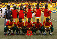 Photo: Steve Bond/Richard Lane Photography.<br />Guinea v Morocco. Africa Cup of Nations. 24/01/2008. Guinea line up