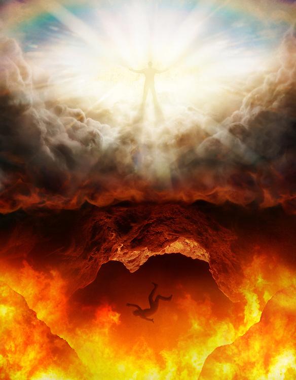 Photo by JON M. FLETCHER - Heaven and Hell illustration. (© Jon M. Fletcher)