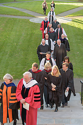 Procession. A Service of Evensong Together with the Conferral of Honorary Degrees. 20 October 2015. Berkeley Divinity School at Yale University.