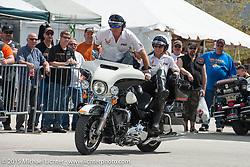 Members of Ride Like a Pro demonstrate advanced riding skills during Daytona Beach Bike Week 2015. FL, USA. Tuesday March 10, 2015.  Photography ©2015 Michael Lichter.