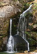 Virje waterfall, near Bovec, Alpe Adria Trail, Slovenia. The Alpe Adria Trail (AAT) is a 750km hiking route through Austria, Slovenia and Italy. © Rudolf Abraham