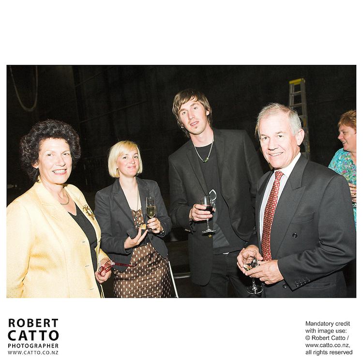Ros Burdon;Joe Sheehan;Richard Cathie at the Arts Foundation of New Zealand New Generation Awards at the St James Theatre, Wellington, New Zealand.<br />