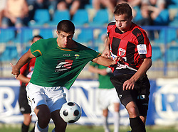 Edin Junuzovic (7) of Rudar and Igor Krstic (16) of Primorje  at 6th Round of PrvaLiga Telekom Slovenije between NK Primorje Ajdovscina vs NK Rudar Velenje, on August 24, 2008, in Town stadium in Ajdovscina. Primorje won the match 3:1. (Photo by Vid Ponikvar / Sportal Images)