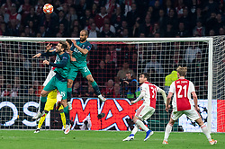 08-05-2019 NED: Semi Final Champions League AFC Ajax - Tottenham Hotspur, Amsterdam<br /> After a dramatic ending, Ajax has not been able to reach the final of the Champions League. In the final second Tottenham Hotspur scored 3-2 / Fernando Llorente #18 of Tottenham Hotspur, Lucas #27 of Tottenham Hotspur, Nicolas Tagliafico #31 of Ajax