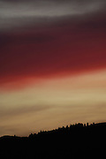 Ecuador, May 26 2010: View of the sunset from the grounds of del Callo. Copyright 2010 Peter Horrell