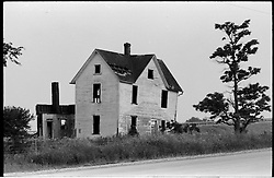 Abandoned Farm House. On the Road somewhere in Ohio, heading west in 1973.