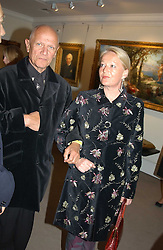 CLARA FISCHER and actor STEVEN BERKOFF at auctioneers Sotheby's Summer party held at their showrooms in 34-35 New Bond Street, London W1 on 6th June 2005.<br /><br />NON EXCLUSIVE - WORLD RIGHTS