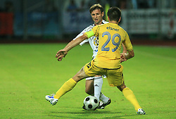 Luka Elsner  (29) of Domzale and Krunoslav Rendulic (17) of Interblock at Slovenian Supercup between NK Domzale and NK Interblock, on July 9, 2008, in Domzale. Interblock won the mach and Supercup 7:6 after penalty shots.. (Photo by Vid Ponikvar / Sportal Images)