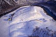 Aerial, Pennsylvania, Winter Snow, Bedford Co., PA Aerial Photograph Pennsylvania