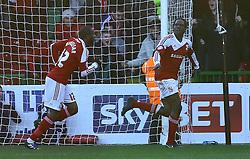 Swindon Town's Nile Ranger celebrates scoring - Photo mandatory by-line: Joe Dent/JMP - Tel: Mobile: 07966 386802 11/01/2014 - SPORT - FOOTBALL - County Ground - Swindon - Swindon Town v Peterborough United - Sky Bet League One