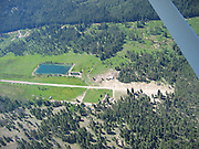 Aerial view of Sulphur Creek Ranch in central Idaho