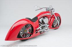 """""""Arrow Bike,"""" built by Arlen Ness. The idea came from early cars in the 20's and 30's. Appears in the book The King of Choppers, by Michael Lichter and Arlen Ness."""