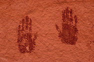 Two Hand Prints on Wall, Natural Bridges National Monument, Utah