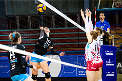 Eva Zatkovic of Calcit Volley during 3rd Leg Volleyball match between Calcit Volley and Nova KBM Maribor in Final of 1. DOL League 2020/21, on April 17, 2021 in Sportna dvorana, Kamnik, Slovenia. Photo by Matic Klansek Velej / Sportida