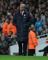 Arsene Wenger Manager Complains <br />Arsenal 2011/12<br />Arsenal V Wolverhamton Wanderers (1-1) 27/12/11<br />The Premier League<br />Photo: Robin Parker Fotosports International