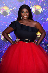 Motsi Mabuse arriving at the red carpet launch of Strictly Come Dancing 2019, held at BBC TV Centre in London, UK.