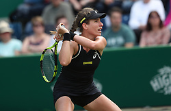 Johanna Konta during day two of the Nature Valley Classic at Edgbaston Priory, Birmingham. PRESS ASSOCIATION Photo. Picture date: Tuesday June 19, 2018. See PA story TENNIS Birmingham. Photo credit should read: David Davies/PA Wire. RESTRICTIONS: Editorial use only, no commercial use without prior permission