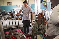 Liam Payne visits an emergency ward at Princess Mary Louise Hospital, Accra, Ghana