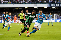 October 29, 2017 - Napoli, Napoli, Italy - Naples - Italy 29/10/2017.PI ZIELINSKI of  S.S.C. NAPOLI   and MARCELLO GAZZOLA of SASSUOLO fights for the ball during Serie A  match between S.S.C. NAPOLI and SASSUOLO  at Stadio San Paolo of Naples. (Credit Image: © Emanuele Sessa/Pacific Press via ZUMA Wire)