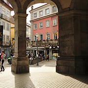 People in the streets od the historic center of Braga
