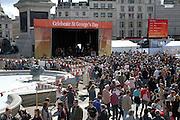 Celebration of St George's day, Trafalgar Square, London, 25th April 2009
