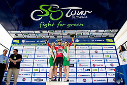 Luka Mezgec (SLO) of Mitchelton - Scott celebrates in red jersey at trophy ceremony after 3rd Stage of 26th Tour of Slovenia 2019 cycling race between Zalec and Idrija (169,8 km), on June 21, 2019 in Slovenia. Photo by Matic Klansek Velej / Sportida